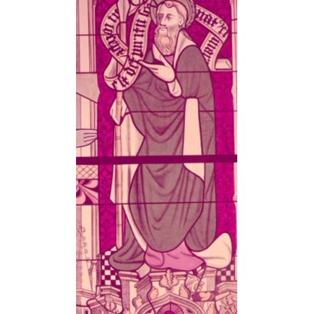 Century Stained Glass - Saint James The Apostle  stained glass window  13th Century Poster Print