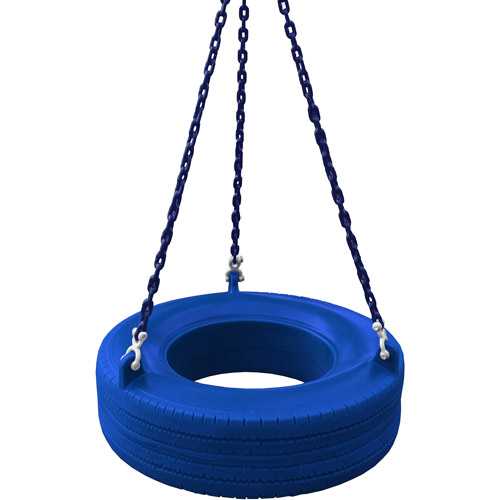 Gorilla Playsets 360° Turbo Tire Swing with Chains - Blue