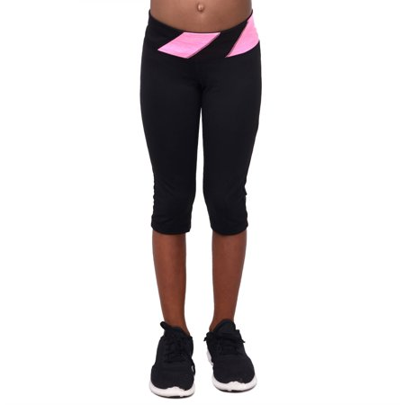 Girls Active Capri Sport Tight with Diagonal Waistband - Buy Girl Online
