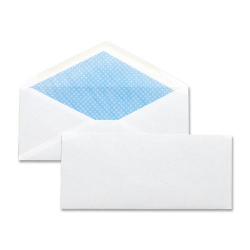 Business Source Security Regular Envelopes,No. 10,4.12''x9-1/2'',500 per Box,White