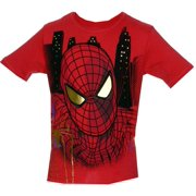 Spider-Man Foil Face Marvel Comics Juvenile Superhero T-Shirt Tee