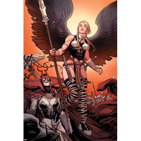 Ultimate New Ultimates No.4: Valkyrie and Hela Standing Poster Wall Art By Frank Cho