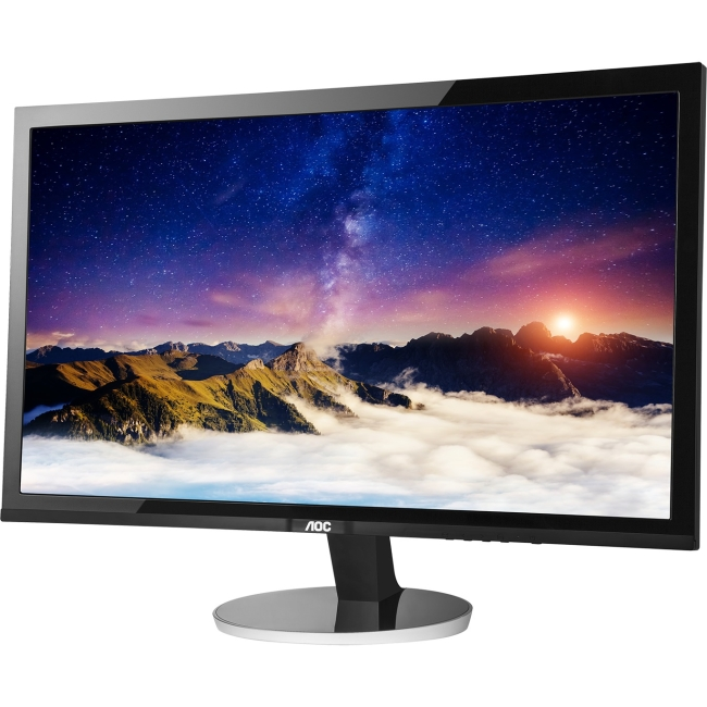 "AOC q2778Vqe 27"" WQHD 2560 x 1440 LED Monitor with HDMI and DP - 2560 x 1440 - 16.7 Million Colors - 350 Nit - 20,000,000:1 - WQHD - DVI - HDMI - VGA - DisplayPort - 45 W - Black, Silver - TCO Certifi"