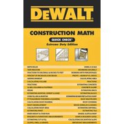 BOOK CONSTRT MATH CHECK DEWALT