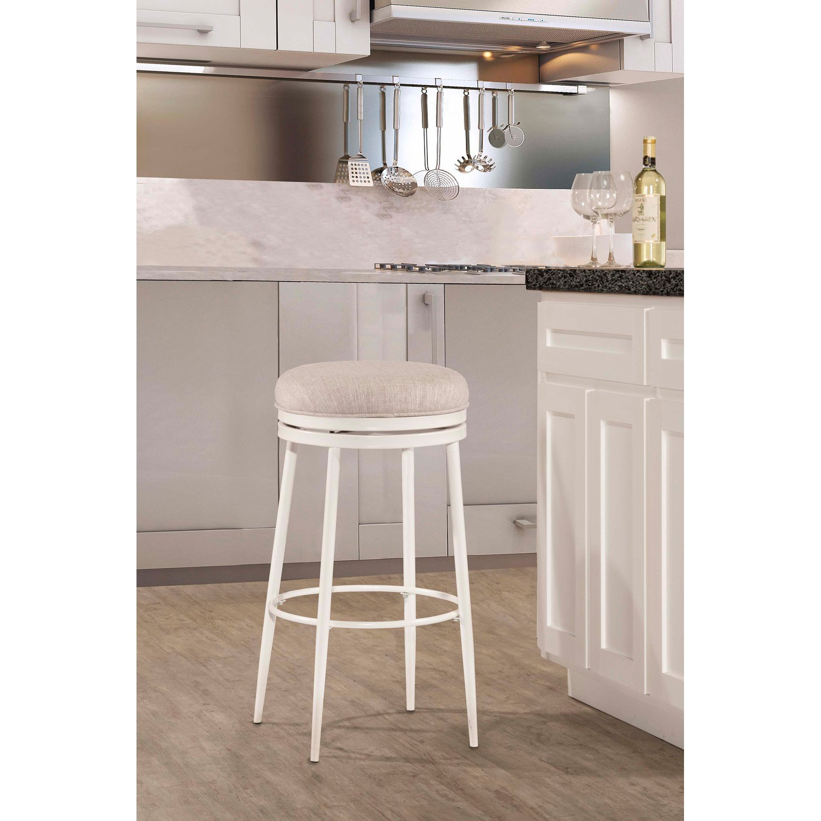 Hillsdale Furniture Aubrie Swivel Backless Counter Stool by Hillsdale Furniture