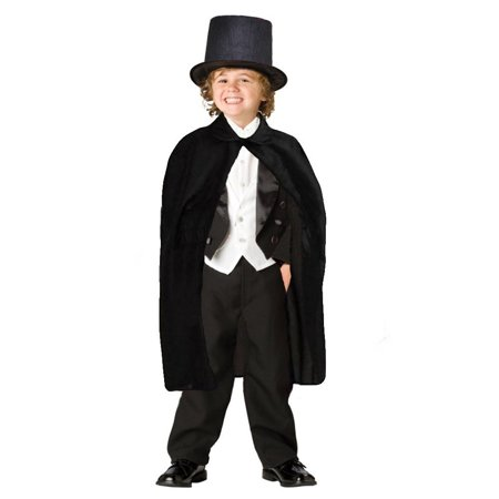 Holiday Children's Black Magician Hat and Cape For Children and Adults Magician - Magicians Cape