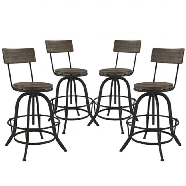 East End Imports EEI-1609-BRN-SET Procure 4 Piece Dining Set, Brown