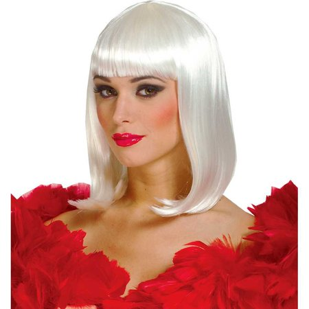 Adult Womens 50's Deluxe Peggy Sue Short Straight Costume Wig Hair Drage - White Short Wig