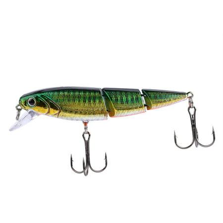 10cm Lifelike Multi Jointed Angling Hard Fishing Swim Lures With Triple Hooks Minnow Crankbait , Angling Fishing bait, Angling Fishing Lures thumbnail
