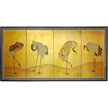 Gold Leaf Cranes -
