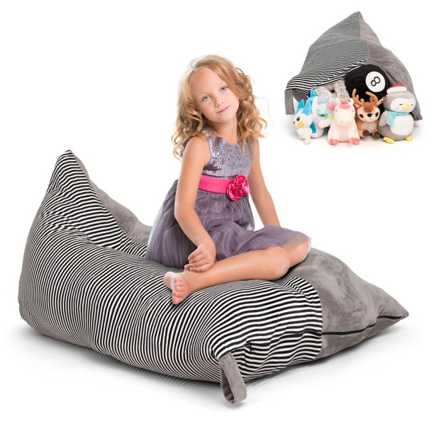 Stuffed Animal Storage Bean Bag Chair Cover - Extra Large ...