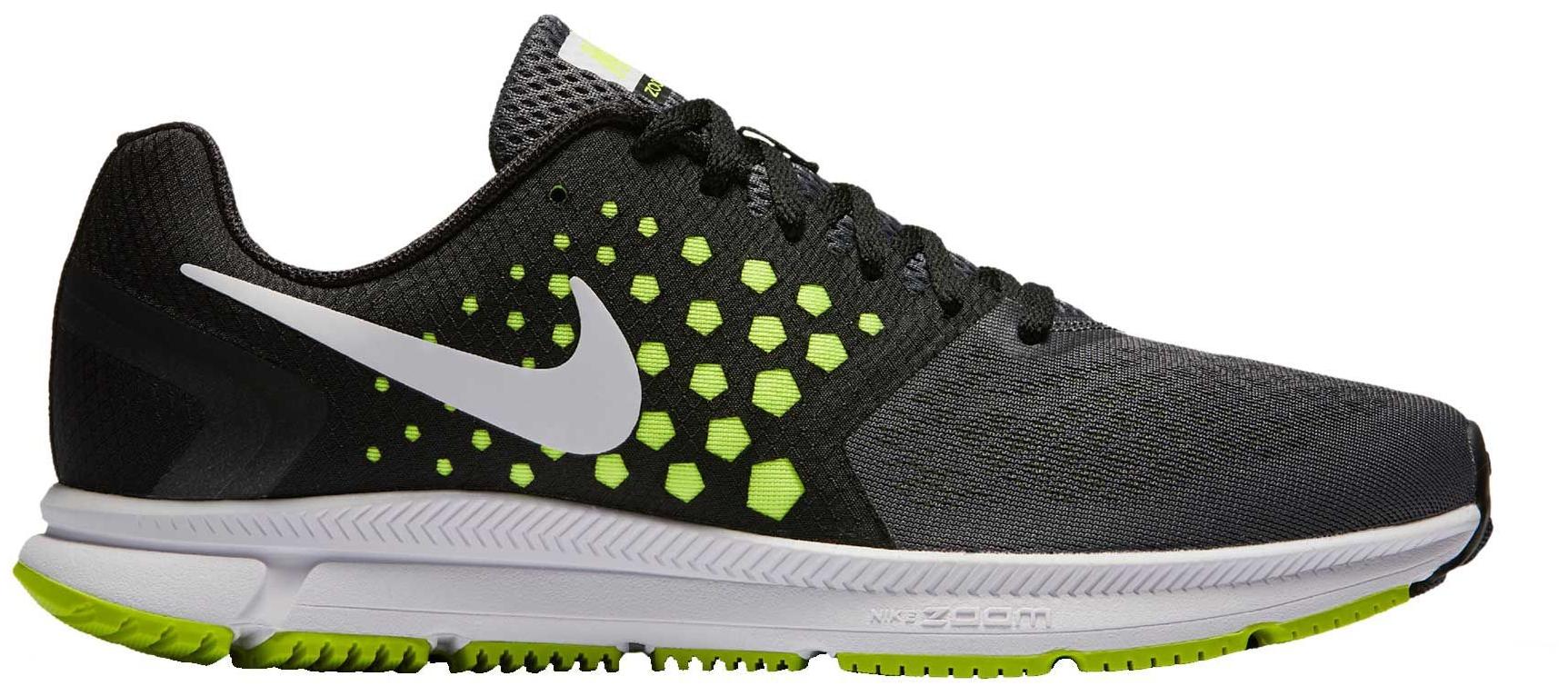 Nike Men's Air Zoom Span Running Shoes (Black/Volt, 7.5)