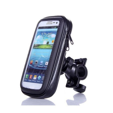 Bike Phone Mount Bag, Motorcycle Bicycle Frame Bike Handlebar Bags with Waterproof Touch Screen Phone Case for Universal Cell Phone (less than 6.3 inches)