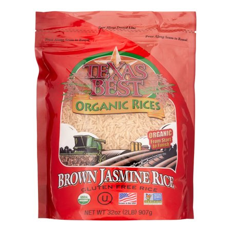 Texas Best Organic Rices Gluten Free Brown Jasmine Rice, 32 Oz, 1