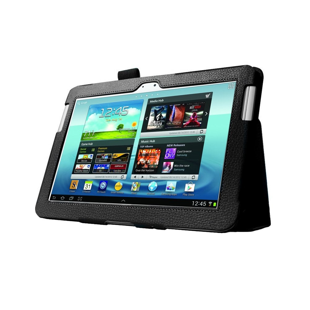 MGear Black Double-Fold Folio Case for Samsung Galaxy Note 10.1 in. Tablet