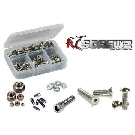 RC Screwz Racers Standard Bulk Screw Kit 1/8th - 450 Pieces #rs002 Screw Kit Standard
