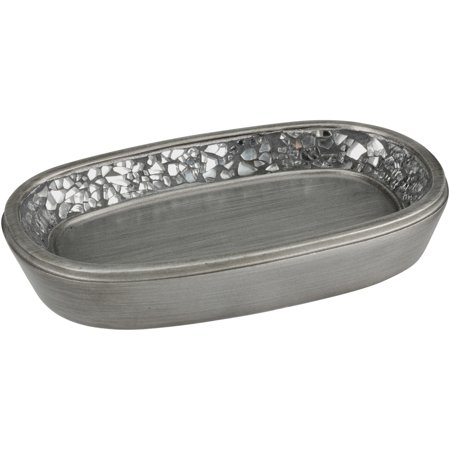 India Ink Antique Pewter Altair Soap Dish
