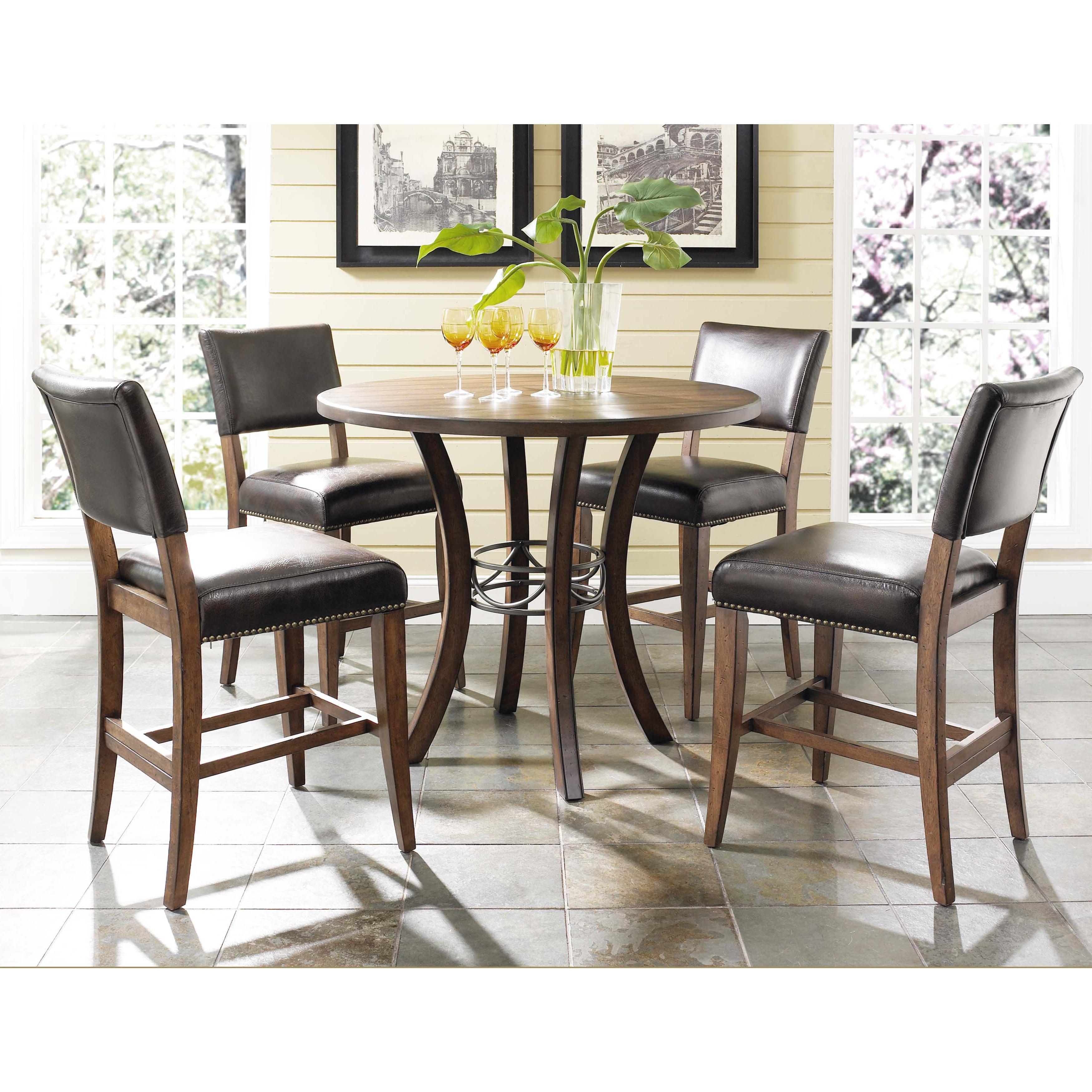 Hillsdale Furniture Cameron 5 Piece Counter Height Round Wood Dining Set With Parson Stool Walmart Com Walmart Com