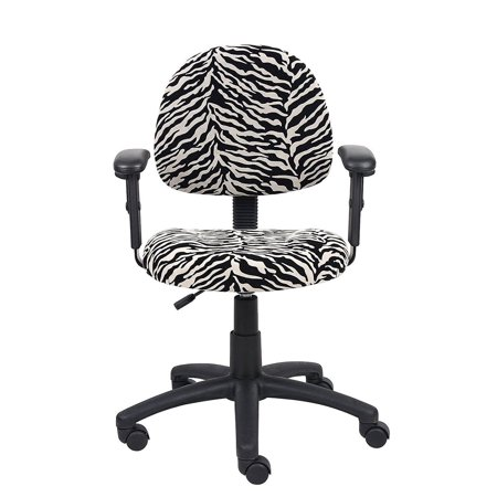 Perfect Posture Delux Microfiber Task Chair with Adjustable Arms in