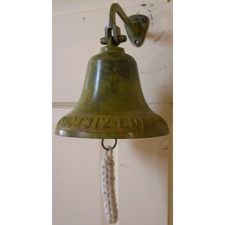 Titanic Ship Bell with Antique Green Finish