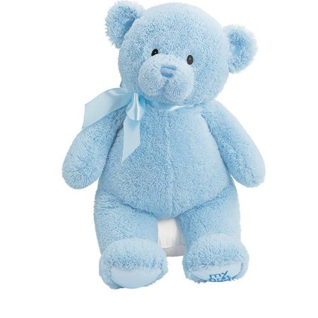 Baby My First Teddy-Large-Blue, Luxurious soft plush By GUND ()