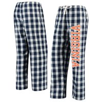 Virginia Cavaliers Women's Buffalo Plaid Flannel Pants - Navy/Cream