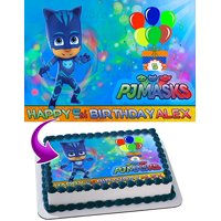 CatBoy PJ MASKS Edible Image Cake Topper Personalized Icing Sugar Paper A4 Sheet Edible Frosting Photo Cake 1/4 Edible Image for cake