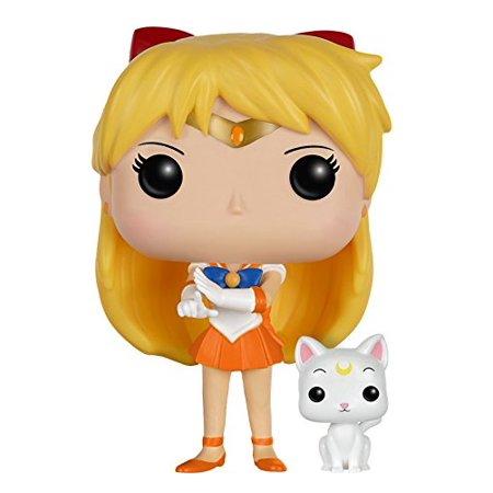 Funko POP Anime: Sailor Moon - Sailor Venus with Artemis Action Figure - Kiss Anime Sailor Moon