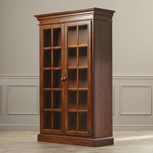 August Grove Mertie Large Library 2 Door Accent Cabinet