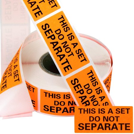 Eucatus Super Adhesive This Is A Set Do Not Separate Stickers 6 Pack. Bulk (3000 Total) Perforated 1 x 2 Self-Adhesive, Sold As Set Labels. FBA-Approved Shipping Supply. Eye-Catching Orange Color