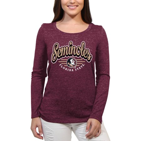 Ncaa Florida State Seminoles Mesh - Florida State Seminoles Funky Script Women'S/Juniors Team Long Sleeve Scoop Neck Shirt