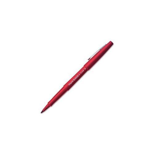 Paper Mate Paper Mate Flair Pen, Point Guard Tip, 12-DZ, Red Barrel-Ink