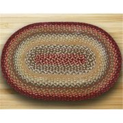 Earth Rugs 02-417 Oval Shaped Rug, Thistle Green and Country Red