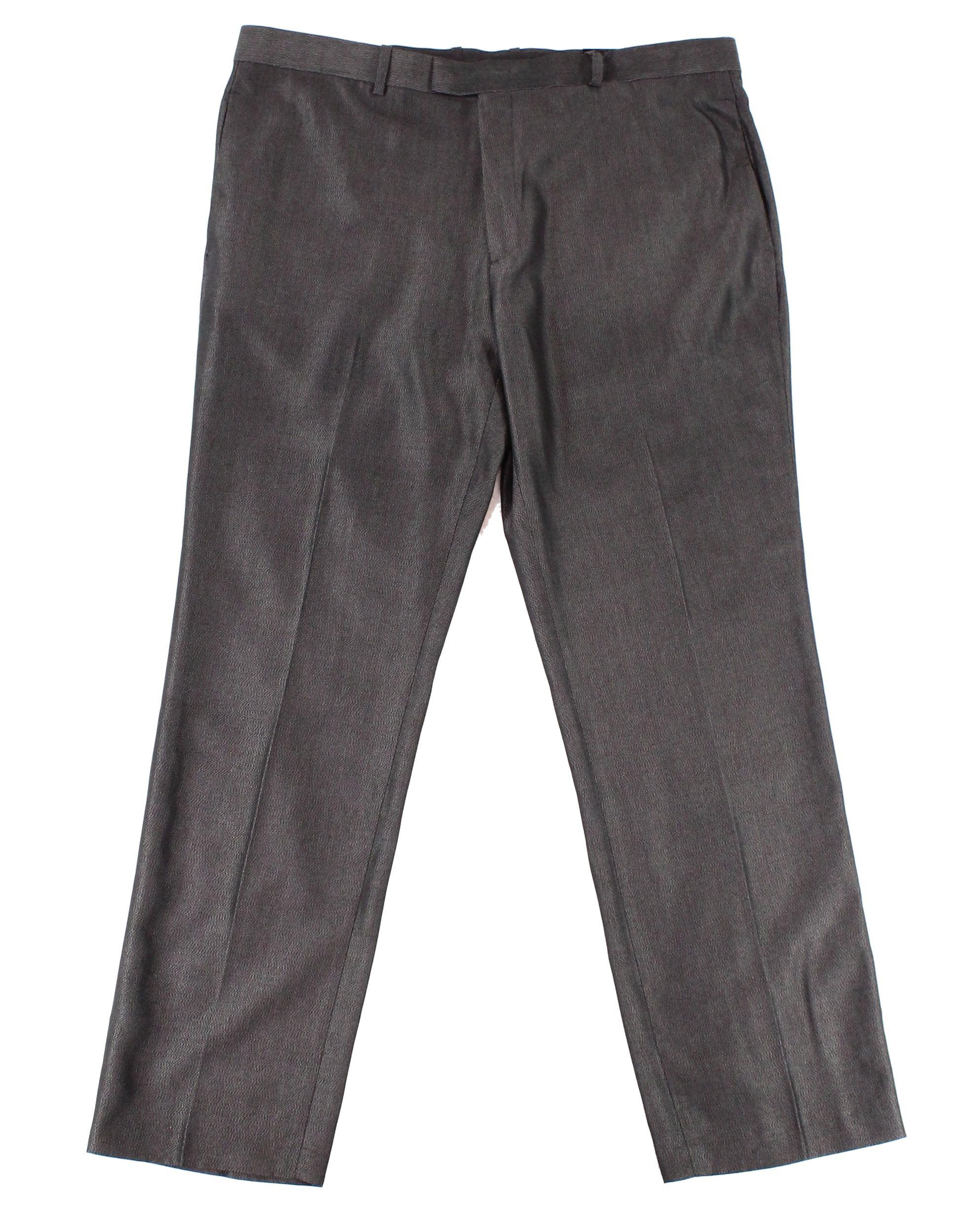 Alfani NEW Deep Gray Mens Size 36x34 Printed Dress Flat Front Pants