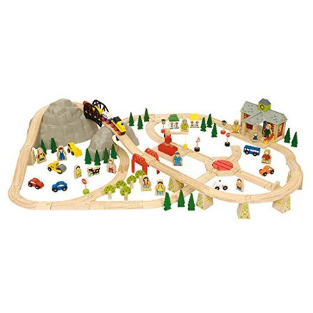 BigJigs Rail Bigjigs Rail BJT016 Mountain Railway (Bigjigs Rail Magical Train Set And Table)