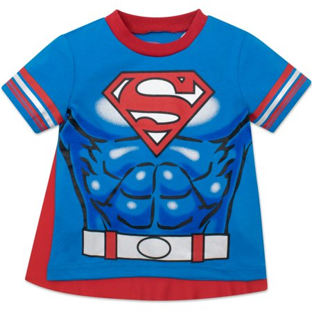 Blue Toddler T-shirt - Superman Toddler Boys' T-shirt with Cape, Blue (5T)