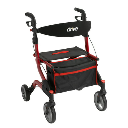 Drive Medical Iwalker Euro Style Rollator  Red