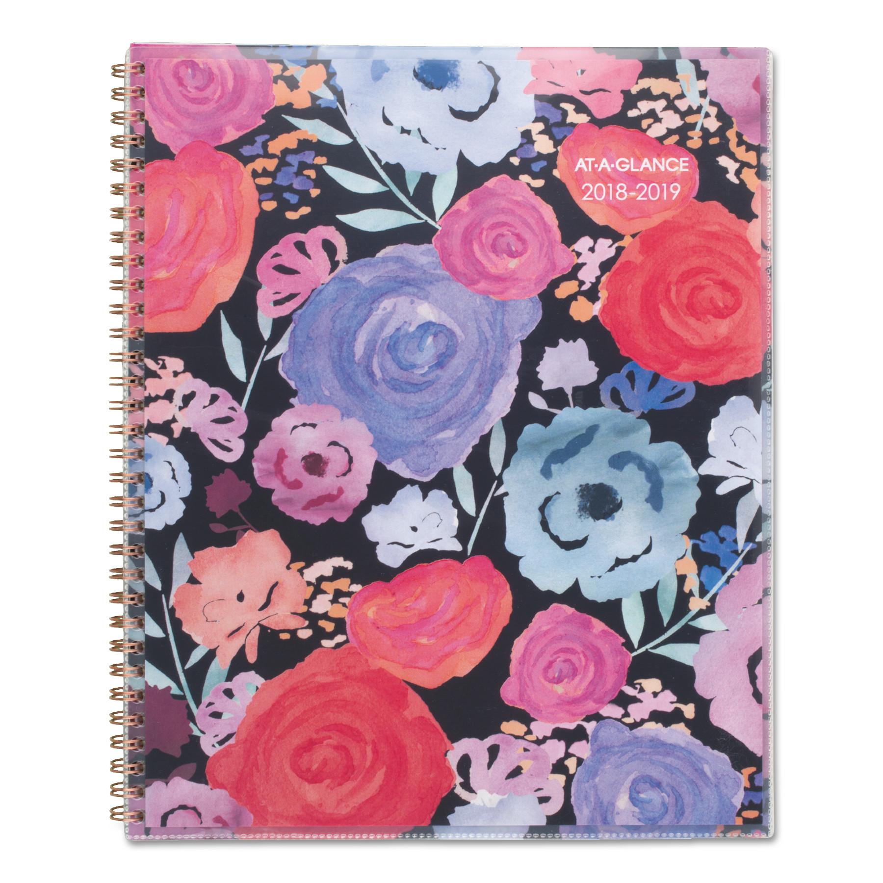 AT-A-GLANCE Academic Planners, 11 x 8 1/2, Midnight Rose, 2018-2019 -AAG1101901A