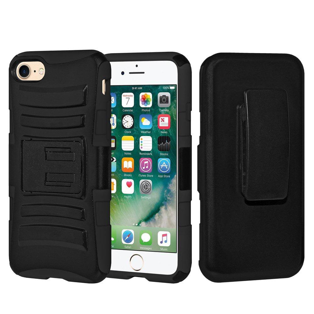 Iphone 7 Case Rugged Hybrid Armor Hard Defender Case Soft Silicone