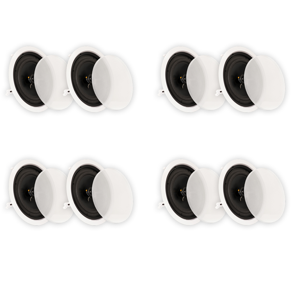 "Theater Solutions CS8C In Ceiling 8"" Speakers Surround Sound Home Theater 4 Pair Pack 4CS8C"