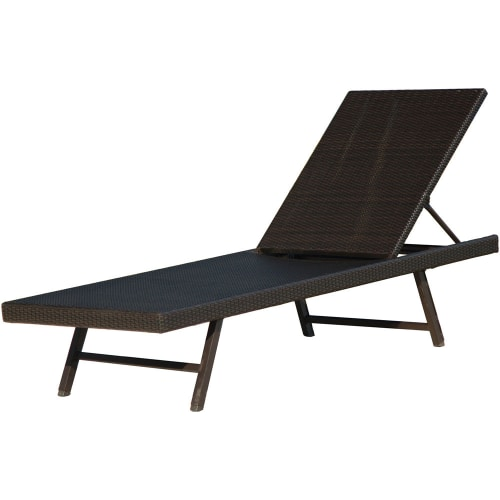 "Hanover ORLEANSCHAISE Orleans 78"" Long Steel Framed Resin Wicker Outdoor Chaise Lounge Chair"
