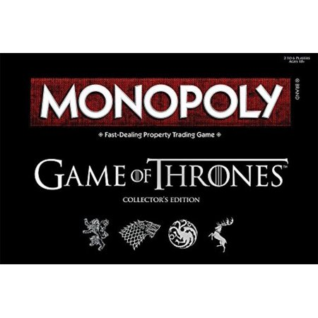 Monopoly: Game of Thrones Collector's Edition Board Game - Monopoly Classic Edition