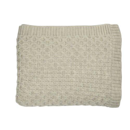 Gracie Oaks Dryden Honeycomb Wool Throw