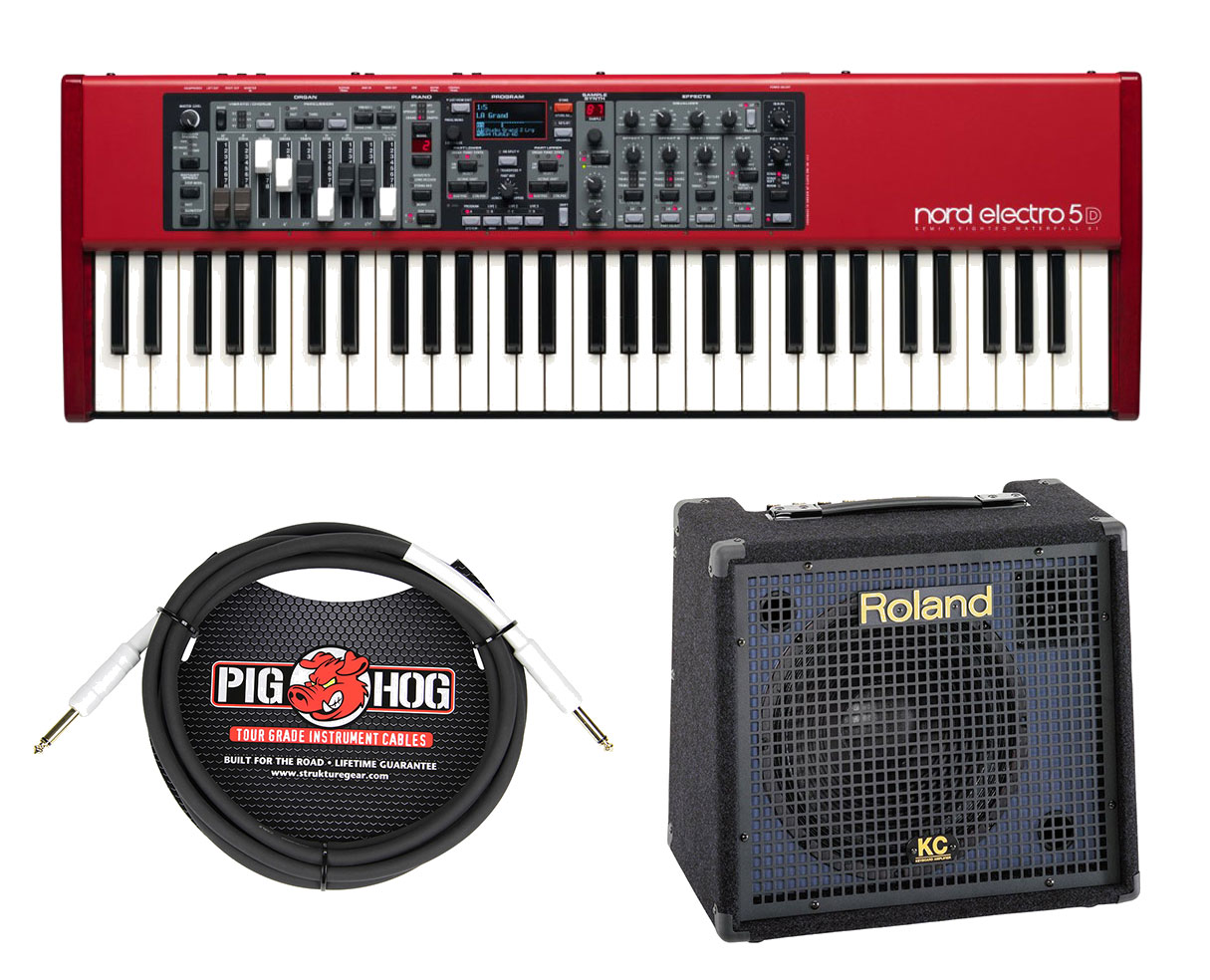 Nord Electro 5D 61 Stage Piano + Roland KC-150 + Cable by