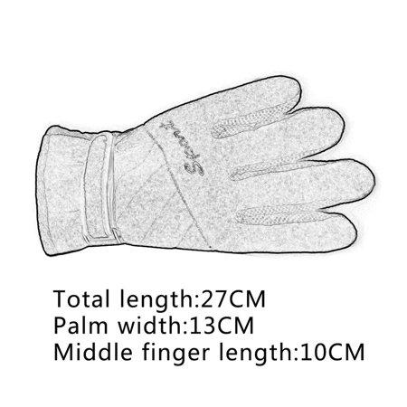 Three Layer Man Woman Aotu Thickening Windproof Soft Gloves Outdoor Winter Warm Fashion Unisex Wrist Mitten - image 4 of 6