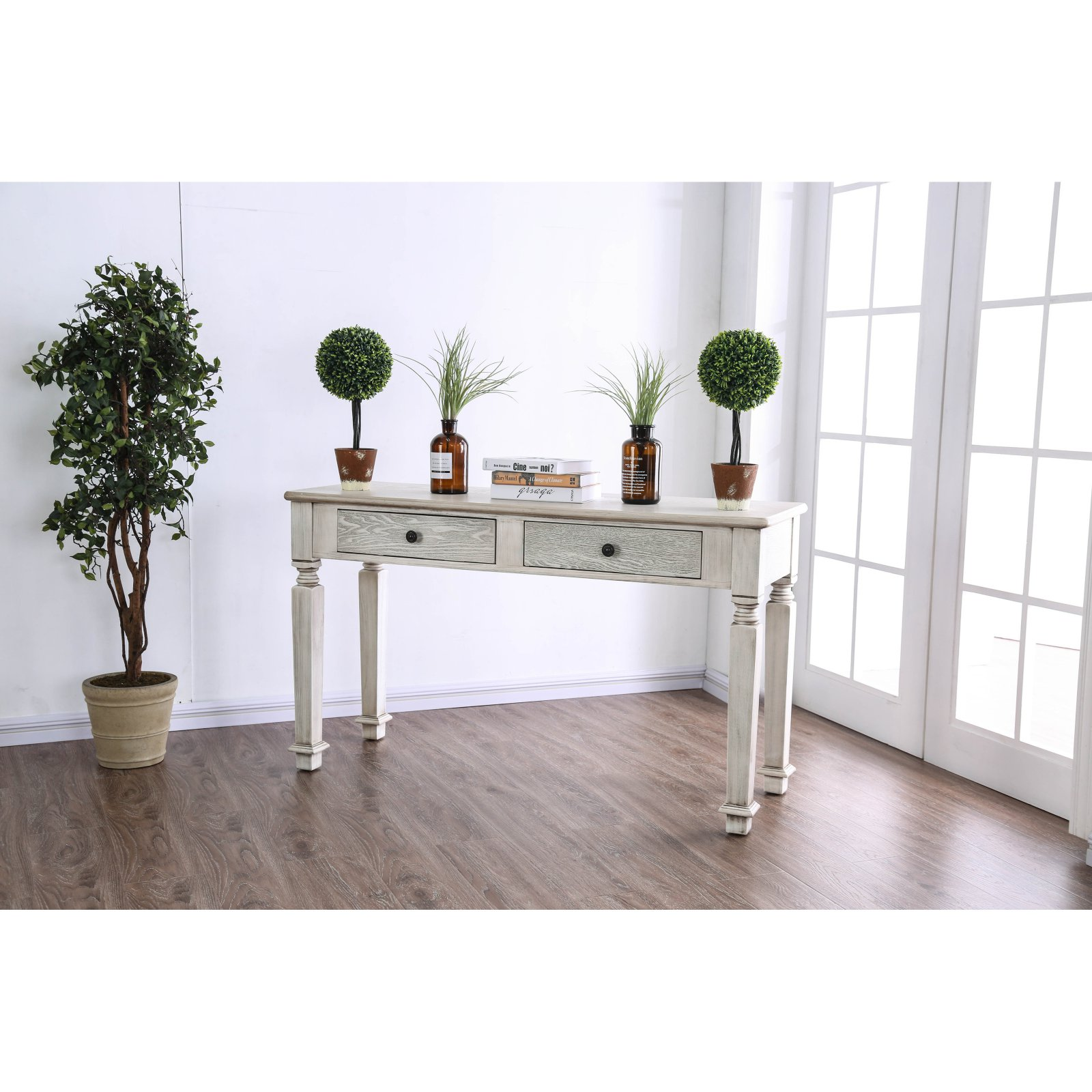 Furniture of America Jonie Rustic Console Table