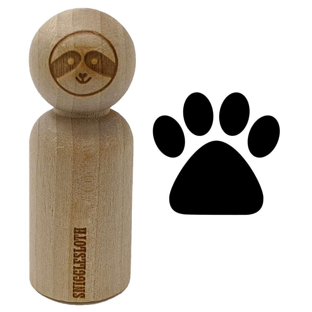 Paw Print Outline Dog Cat Rubber Stamp for Stamping Crafting Planners 1//2 Inch Mini