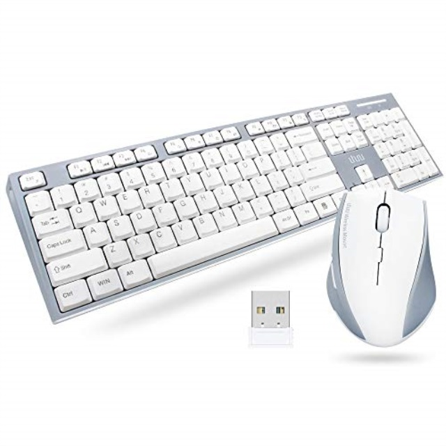 Laptop Uhuru Keyboard Mouse Combo Wireless Full-Sized For Computer TV Tablet