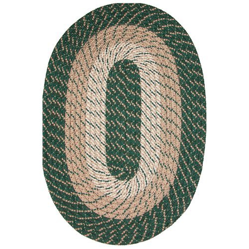 Robin Rug Salem Braided Rug - Hunter Green