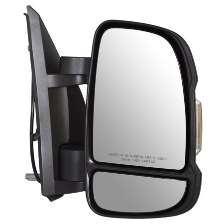 Passengers Manual Side View Mirror w/ Signal Temperature Sensor Replacement for RAM Promaster Van 5VE98JXWAD (Golf Mirror Passengers Side Manual)